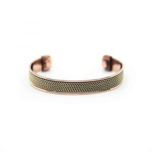Koperen Magneet Armband Grid