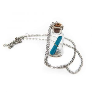 Wensketting Message in a Bottle Blauw
