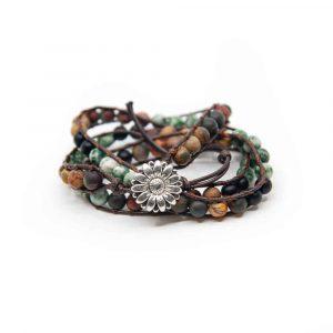 Bohemian Handgemaakte Agaat Wikkel Armband