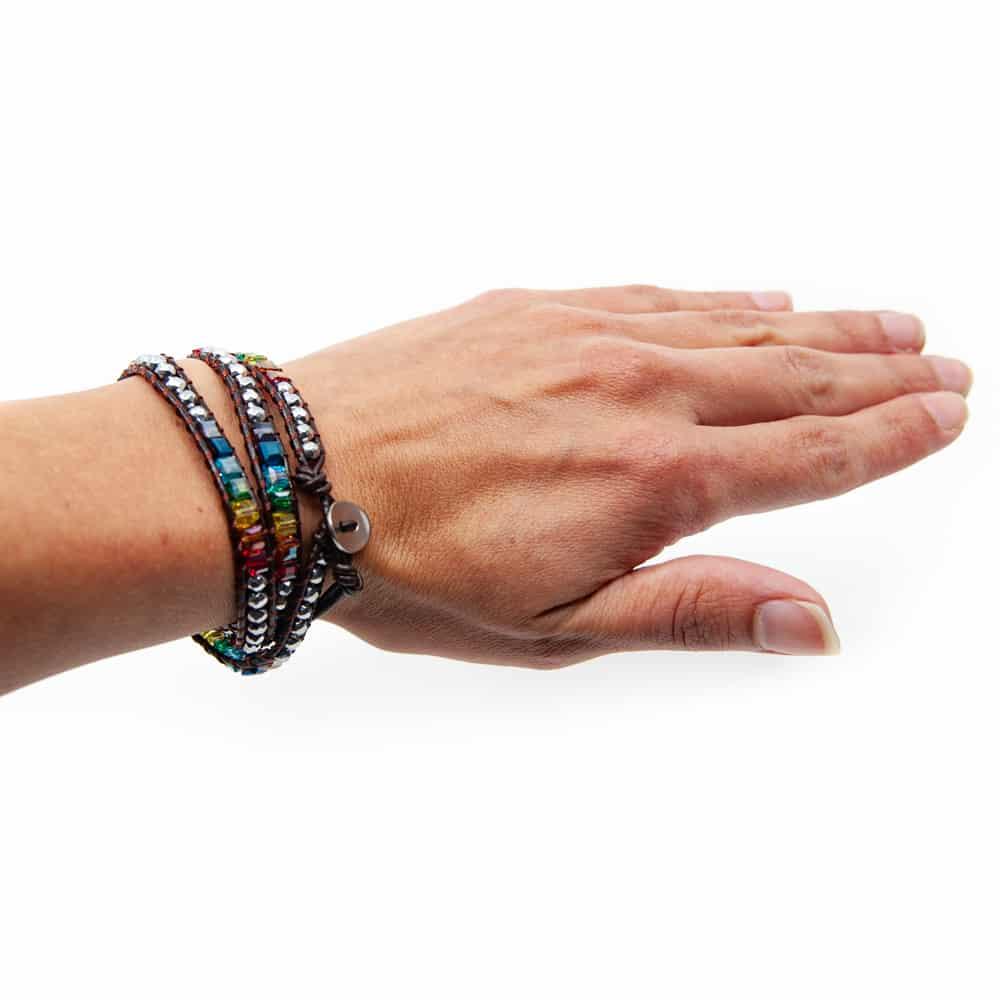 Bohemian Chakra Kralen Armband Wrap