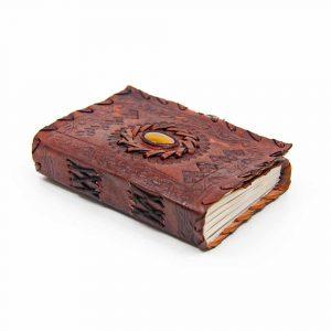 Handgemaakt Leren Notieboekje met Zijslot