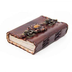 Handgemaakt Leren Notieboekje met Sloten