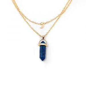 Edelsteen Hanger Lapis Lazuli Dubbeleinder