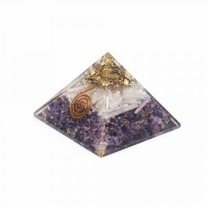 Orgoniet Piramide Amethist & Seleniet - Groot