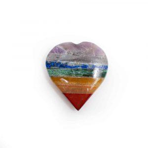 Hartvormige Knuffelsteen 7 Chakra's