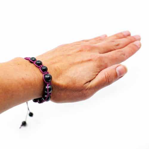 Edelsteen Armband Shungiet Shambala Paars