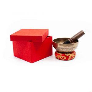 Klankschaal Geschenkset - Tibetaans Gegraveerd