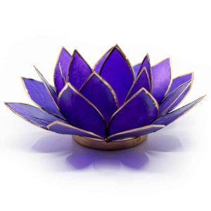Lotus Sfeerlicht Violet 7e Chakra Goudrand