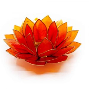 Lotus Sfeerlicht Oranje Goudrand - Deluxe