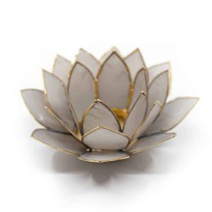 Lotus Sfeerlicht Grijs Goudrand