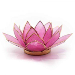 Lotus Sfeerlicht Roze-Lichtroze Goudrand