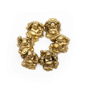 gouden beeldjes in een cirkel