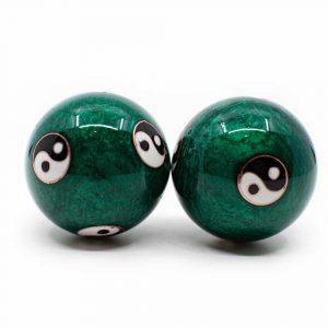 Meridiaan Kogels Yin Yang Groot Groen