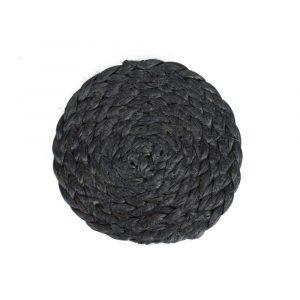 Jute Onderzetter Zwart (Ø 10 cm)