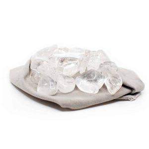 Trommelstenen Bergkristal Oplaadmix (20 tot 40 mm) – 200 gram