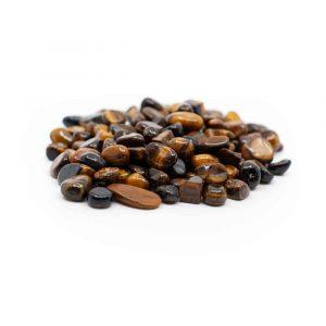 Trommelstenen Tijgeroog (5 tot 10 mm) - 100 gram