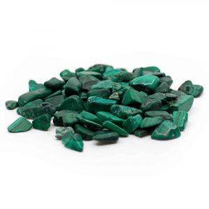 Trommelstenen Malachiet (5 tot 10 mm) - 100 gram