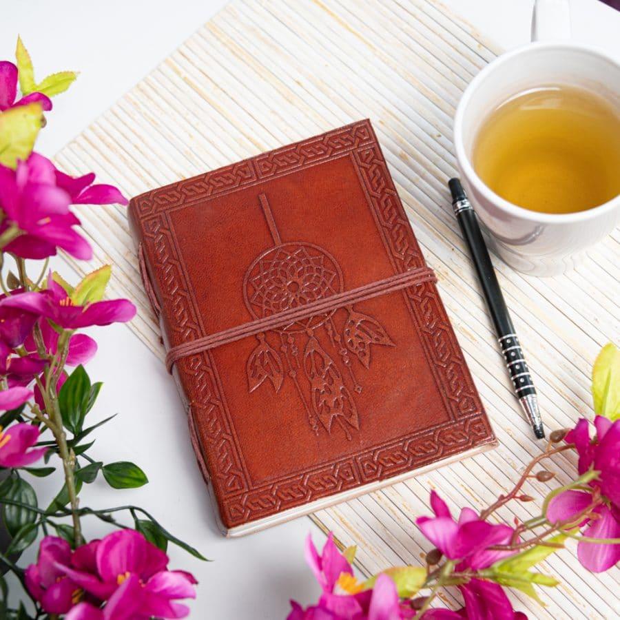 leren notitieboekje dromenvanger