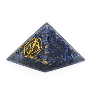 Orgoniet Piramide van Sodaliet - Derde Oog (70 mm)