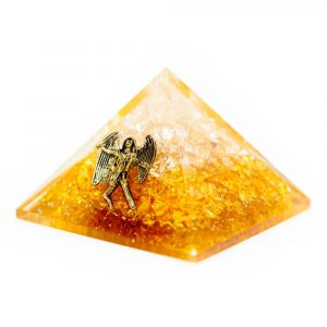 Orgoniet Piramide - Citrien met Engel (40 mm)