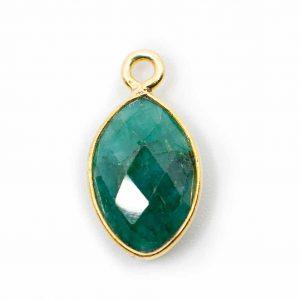 Geboortesteen Hanger Mei Smaragd 925 Zilver & Verguld (12 mm)