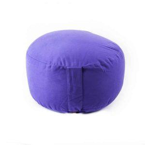 Yogi & Yogini Meditatiekussen Rond Katoen Violet - Extra Hoog -  36 x 22 cm