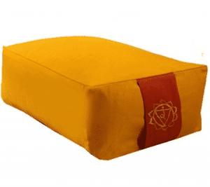 Yogi & Yogini Meditatiekussen Rechthoekig Katoen Geel - 3e Chakra - 38 x 28 x 15 cm