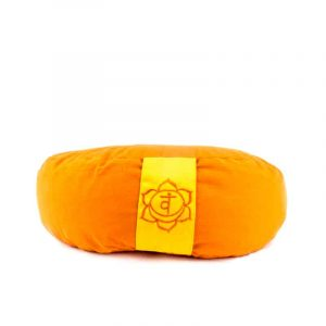 Yogi & Yogini Meditatiekussen Oranje Halve Maan Katoen - 2e Chakra - 33 x 13 cm