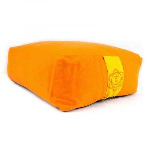 Yogi & Yogini Meditatiekussen Rechthoekig Katoen Oranje - 2e Chakra - 38 x 28 x 15 cm