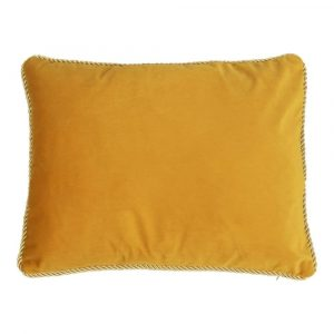 Fluwelen Kussen Honingkleurig (45 x 35 cm)