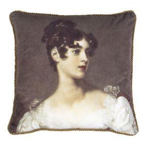 Klassiek Fluwelen Kussen Vrouw (45 x 45 cm)