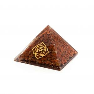 Orgonite Piramide Rode Jaspis - Basis Chakra - (70 mm)