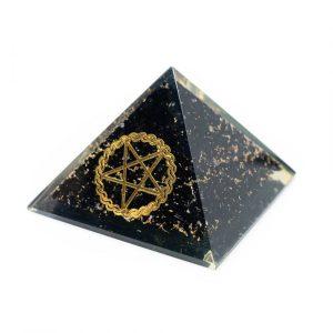 Orgonite Piramide Zwarte Toermalijn - Pentagram - (40 mm)
