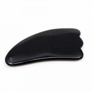 Edelstenen Guasha Massage Schraper Obsidiaan Wolk