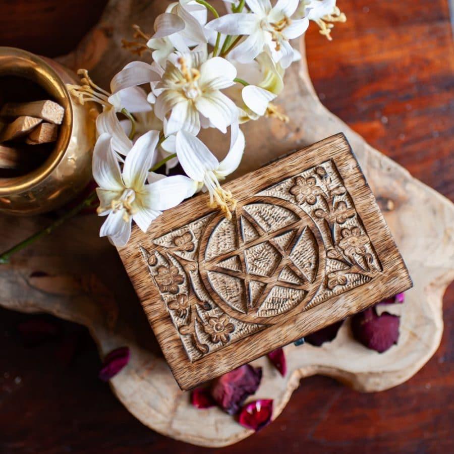 houten doos pentagram