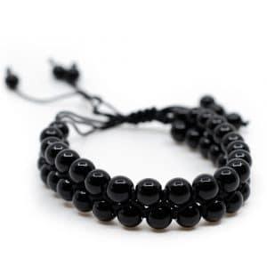 Edelsteen Armband Zwarte Agaat