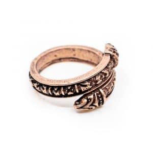 Verstelbare Viking Ring Runen Bronskleurig