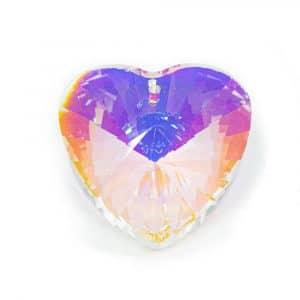 Regenboogkristal Hartvorm Parelmoer (40 mm)
