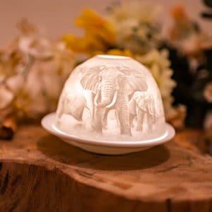 Sfeerlicht Porselein Olifanten