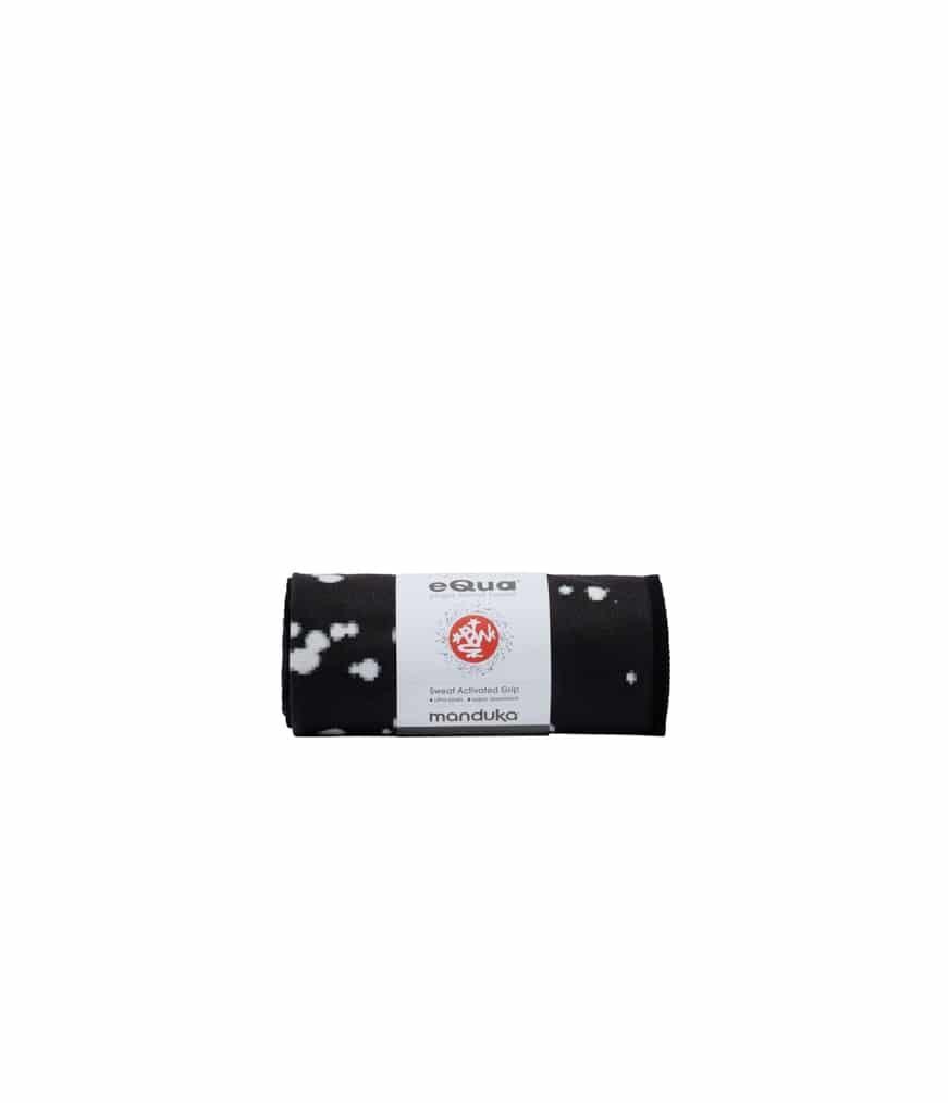 Spiru Manduka eQua Yoga Handdoek - Mini Dot Black (Klein)