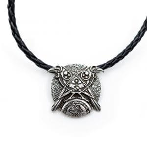 Amulet Viking Kraaien en Alziende Oog