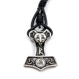 Viking Armband Thor's Hammer met Runen en Vos