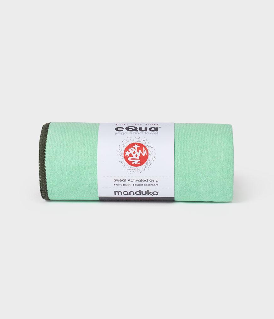 Spiru Manduka eQua Yoga Handdoek - Green Ash (Klein)