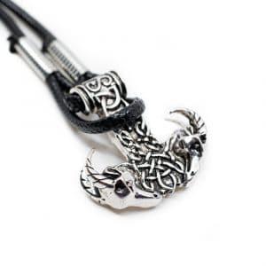Viking Armband Thor's Hammer met Ramkoppen
