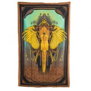 Authentiek Wandkleed Katoen Olifant (215 x 135 cm)