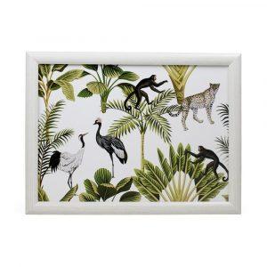 Schootkussen – Laptray – Jungle Wit (43 x 33 cm)