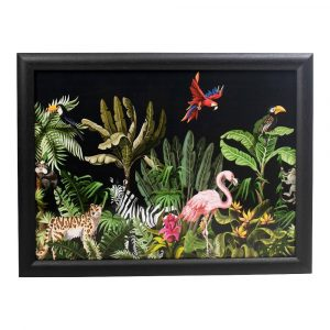 Schootkussen – Laptray – Jungle Zwart (43 x 33 cm)