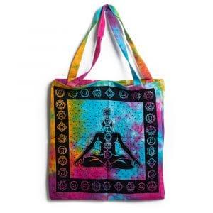 Tote Bag Katoen - 7 Chakra Meditatie Kleurrijk (45 cm)