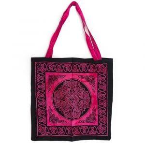 Tote Bag Katoen - Roze/ Zwart (45 cm)