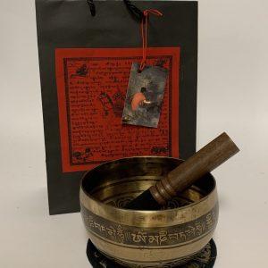 Handgemaakte Klankschaal Cobrebati met Mantra OMPH (Large)